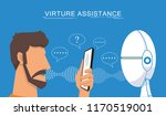 virtual assistant and voice... | Shutterstock .eps vector #1170519001