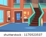 cartoon hallway. house entrance ... | Shutterstock .eps vector #1170523537
