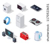 internet things isometric icons.... | Shutterstock .eps vector #1170523651