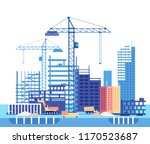 building house. work process of ... | Shutterstock .eps vector #1170523687