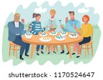 illustration vector of friends...   Shutterstock .eps vector #1170524647