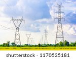 high voltage electrical pole... | Shutterstock . vector #1170525181