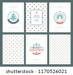 merry christmas greeting cards... | Shutterstock .eps vector #1170526021