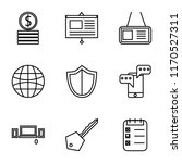 set of 9 simple icons such as... | Shutterstock .eps vector #1170527311