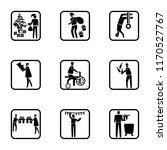 set of 9 simple icons such as... | Shutterstock .eps vector #1170527767