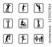 set of 9 simple icons such as... | Shutterstock .eps vector #1170527824