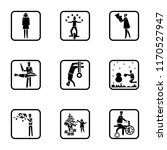 set of 9 simple icons such as... | Shutterstock .eps vector #1170527947