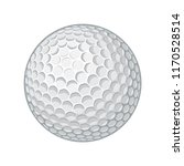 neat golf ball vector image | Shutterstock .eps vector #1170528514