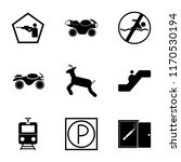 set of 9 simple icons such as...   Shutterstock .eps vector #1170530194