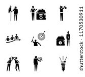 set of 9 simple icons such as... | Shutterstock .eps vector #1170530911