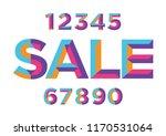 0  1  2  3  4  5  6  7  8  9... | Shutterstock .eps vector #1170531064