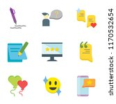 set of 9 simple icons such as... | Shutterstock .eps vector #1170532654