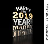 happy new year 2019. holiday... | Shutterstock . vector #1170535117