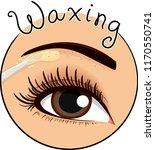 illustration of applying wax...   Shutterstock .eps vector #1170550741