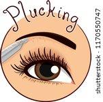 illustration of tweezers... | Shutterstock .eps vector #1170550747