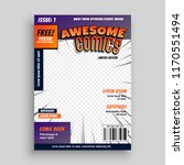 stylish comic book cover page... | Shutterstock .eps vector #1170551494
