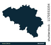 belgium   europe countries map... | Shutterstock .eps vector #1170553354