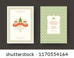 christmas greeting card design... | Shutterstock .eps vector #1170554164