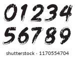 set of grunge numbers.vector... | Shutterstock .eps vector #1170554704