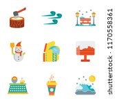 set of 9 simple icons such as... | Shutterstock .eps vector #1170558361