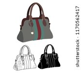 white background  handbag ... | Shutterstock .eps vector #1170562417