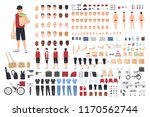 food delivery guy animation kit ... | Shutterstock .eps vector #1170562744