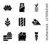 set of 9 simple icons such as... | Shutterstock .eps vector #1170563164