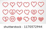 hearts set isolated on white...   Shutterstock .eps vector #1170572944