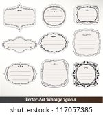 vector frame labels set... | Shutterstock .eps vector #117057385
