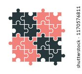 puzzle set with modern colors... | Shutterstock .eps vector #1170576811