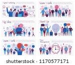 set of vector concept... | Shutterstock .eps vector #1170577171