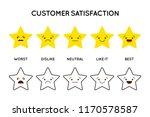 satisfaction rating. set of... | Shutterstock .eps vector #1170578587