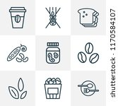 meal icons line style set with... | Shutterstock .eps vector #1170584107