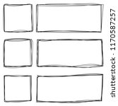 grungy scribble rectangle and... | Shutterstock .eps vector #1170587257