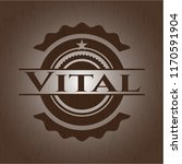 vital badge with wood background | Shutterstock .eps vector #1170591904