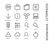 set of 16 simple line icons... | Shutterstock .eps vector #1170594214