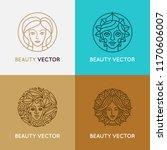 vector set of logo design... | Shutterstock .eps vector #1170606007