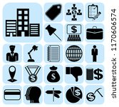 set of 22 business icons ... | Shutterstock .eps vector #1170606574