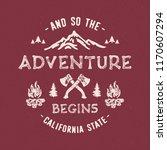 adventure typography. textured...   Shutterstock .eps vector #1170607294