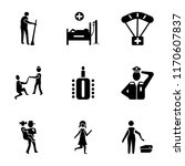 set of 9 simple icons such as... | Shutterstock .eps vector #1170607837