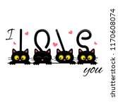 i love you the slogan for t... | Shutterstock .eps vector #1170608074