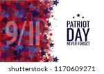 patriot day  never forget  9 11 ... | Shutterstock .eps vector #1170609271