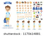 cute young male boy character... | Shutterstock .eps vector #1170614881