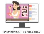 female makeup blogger in the...   Shutterstock .eps vector #1170615067