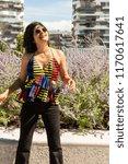 beautiful young indian woman...   Shutterstock . vector #1170617641