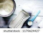 preparation of mixture baby...   Shutterstock . vector #1170624427