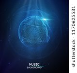 music abstract background blue. ... | Shutterstock .eps vector #1170625531