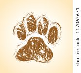dog paws | Shutterstock .eps vector #117062671