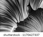 abstract black and white waves  ... | Shutterstock . vector #1170627337