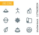 spiritual icons line style set... | Shutterstock .eps vector #1170628324